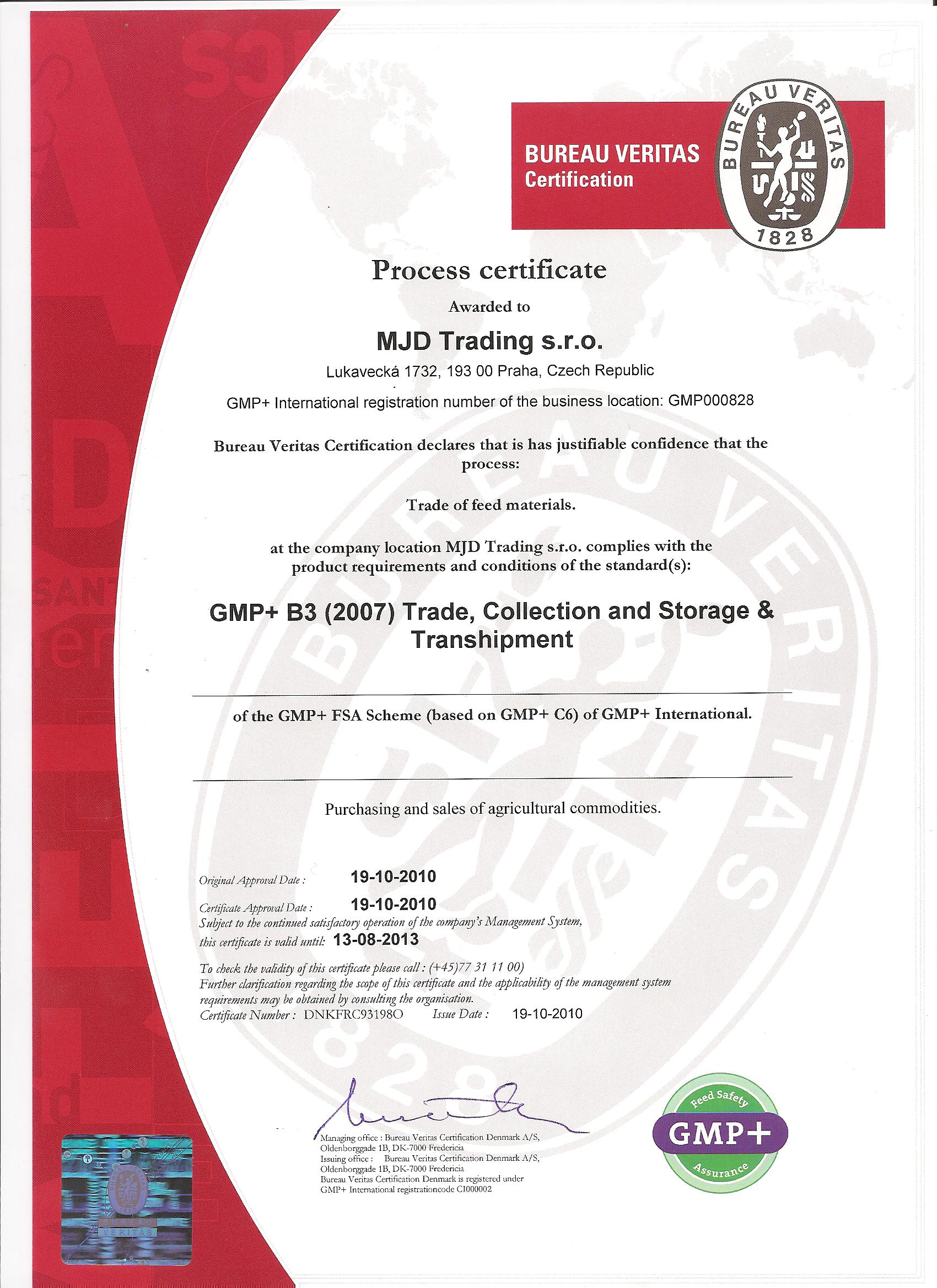 Quality Certificates Mjd Trading